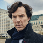 Sherlock Holmes played by Benedict Cumberbatch